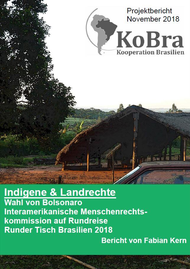"""Titelseite KoBra """"Indigene und Landrechte"""". Quelle: kooperation-brasilien.org"""