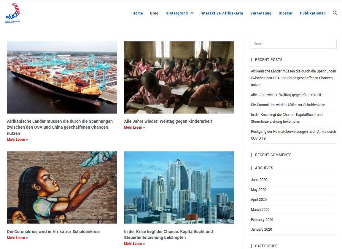 Screenshot EU-Afrika-Blog . Quelle: eu-afrika-blog.de