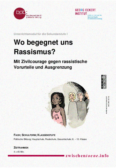 """Titelseite Material """"Wo begegnet uns Rassismus?"""". Quelle: lehrer-online.de"""