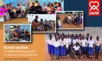 Collage zum DAHW Bildungsprojekt Kinderwelten