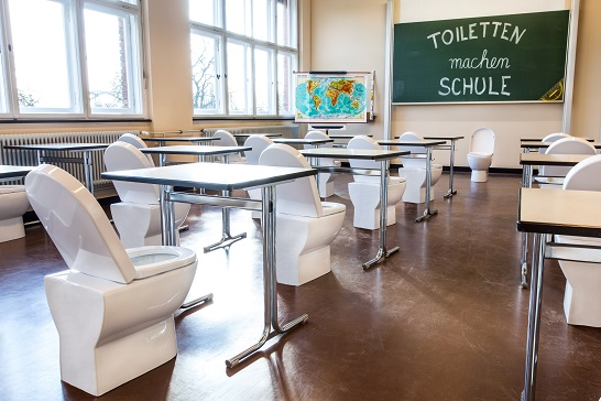 """Foto zum Wettbewerb """"Toiletten machen Schule"""" der GTO 2018. Quelle: German Toilet Organization"""