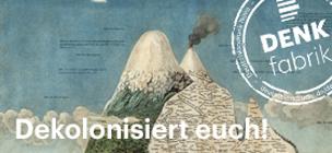 """Grafik zur Denkfabrik """"Eine Welt 2.0 - Dekolonisiert euch! Quelle: deutschlandradio.de (akg-images/Science Source)"""