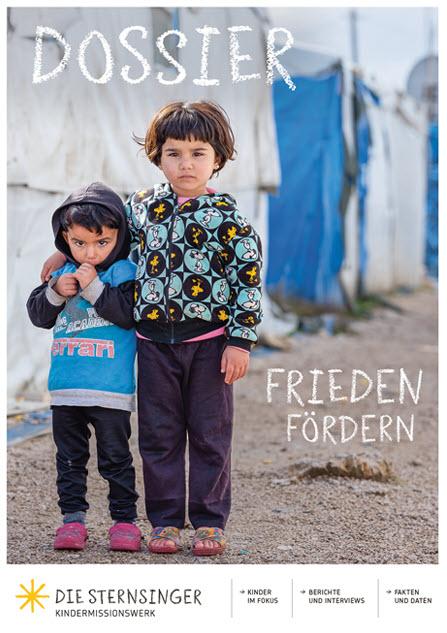 """Cover des Dossiers """"Frieden fördern"""". Quelle: Kindermissionswerk 'Die Sternsinger'"""