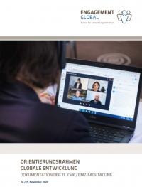 Titelseite Dokumentation 11. KMK/BMZ-Fachtagung zum Orientierungsrahmen. Quelle: Engagement Global