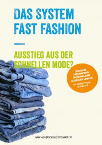 """Titelseite des Unterrichtsmaterials """"Das System Fast Fashion"""""""