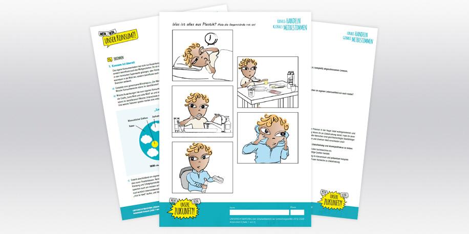 Homeschooling: Arbeitsblätter für den Unterricht zu Hause zum Schulwettbewerb Entwicklungspolitik. Quelle: eineweltfueralle.de