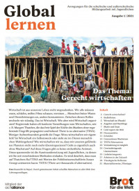 Titelbild Zeitschrift Global Lernen zum Thema Gerecht wirtschaften. Quelle: brot-fuer-die-welt.de