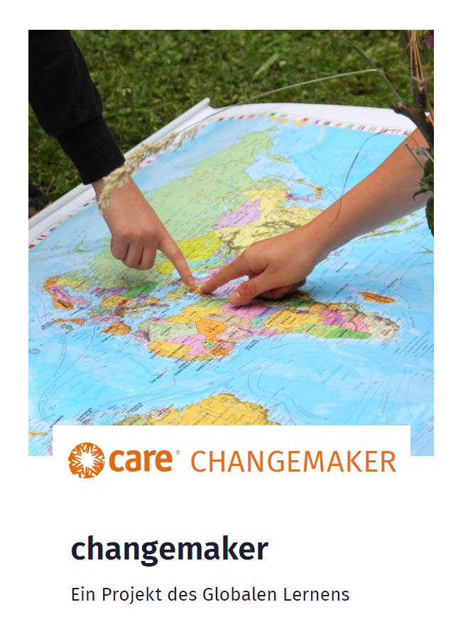 Ausschnitt Flyer zum changemaker-Projekt. Quelle: CARE
