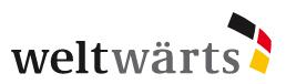 Logo weltwärts. Quelle: weltwaerts.de