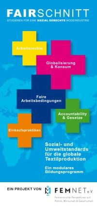Titelseite Flyer zu den Themenmodulen. Quelle: fairschnitt.org