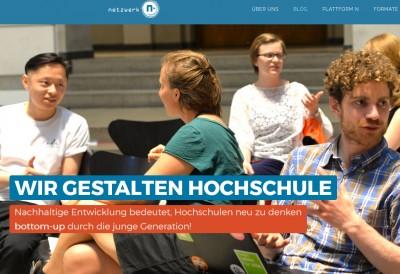 Screenshot Startseite http://netzwerk-n.org/