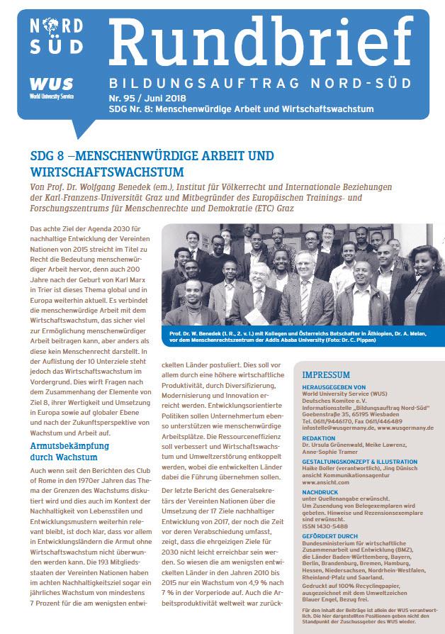 Titelblatt Rundbrief Bildungsauftrag Nord-Süd März 2018