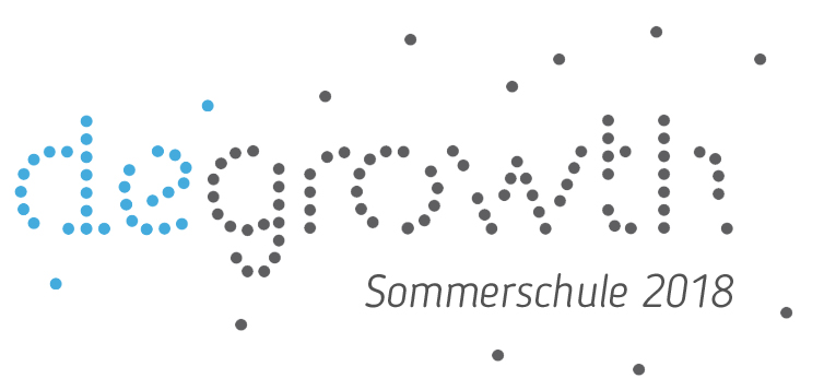 Logo Degrowth-Sommerschule. Quelle: degrowth.info