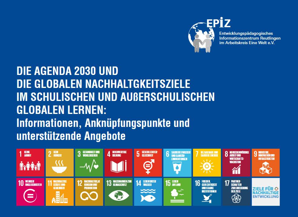 Übersicht SDGs auf dem EPiZ-Faltblatt. Quelle: epiz.de