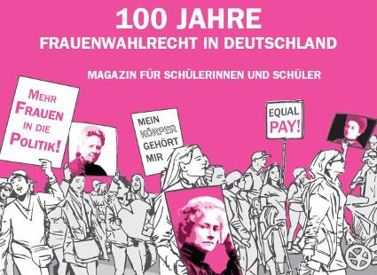 Material 100 Jahre Frauenwahlrecht. Quelle: lehrer-online