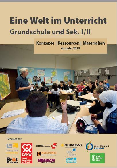 Titelseite Eine Welt im Unterricht 2019. Quelle: shop.welthaus.de