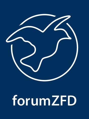 Logo forumZFD. Quelle: run4peace.eu