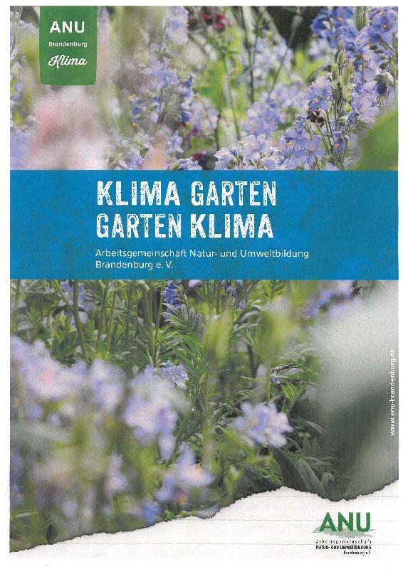 Titelseite Klimagarten – Gartenklima, Quelle: catalogue.education21.ch