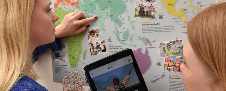 """Titelbild """"Virtuelle Projektbesuche"""". Quelle: www.brot-fuer-die-welt.de"""