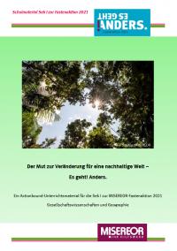 """Titelseite """"Actionbound""""-Unterrichtsmaterial zur Fastenaktion 2021. Quelle: misereor.de"""