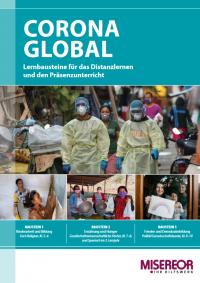 """Titelseite Unterrichtsmaterial """"Corona global"""". Quelle: misereor.de"""