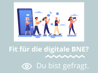 """Grafik zur Umfrage """"Fit für die digitale BNE?"""" © Forum Umweltbildung"""