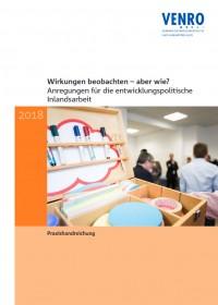 """Titelseite der Handreichung """"Wirkungen beobachten – aber wie?"""" . Quelle: venro.org"""