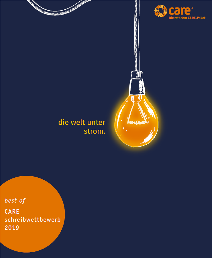 "Cover CARE Sammelband ""Die Welt unter Strom"". Quelle: CARE"