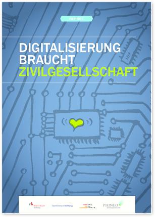 """Titelseite Report """"Digitalisierung braucht Zivilgesellschaft"""". Quelle: bertelsmann-stiftung.de"""