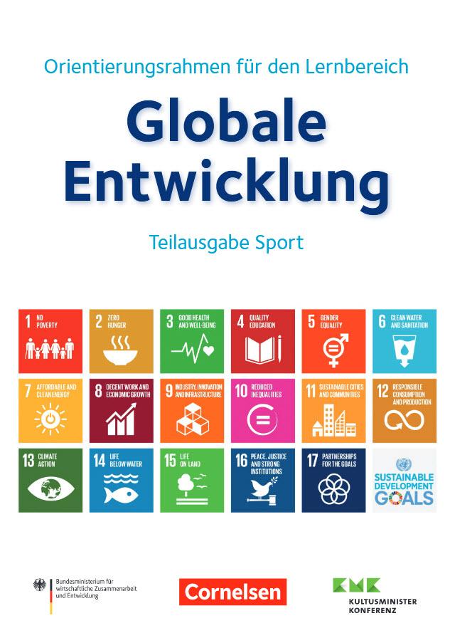 """Titelseite """"Orientierungsrahmen für den Lernbereich Globale Entwicklung - Teilausgabe Sport"""". Quelle: ges.engagement-global.de"""