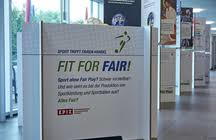 "Wanderausstellung: ""FIT FOR FAIR - Sport trifft Fairen Handel"". Bildquelle: epiz-goettingen.de"