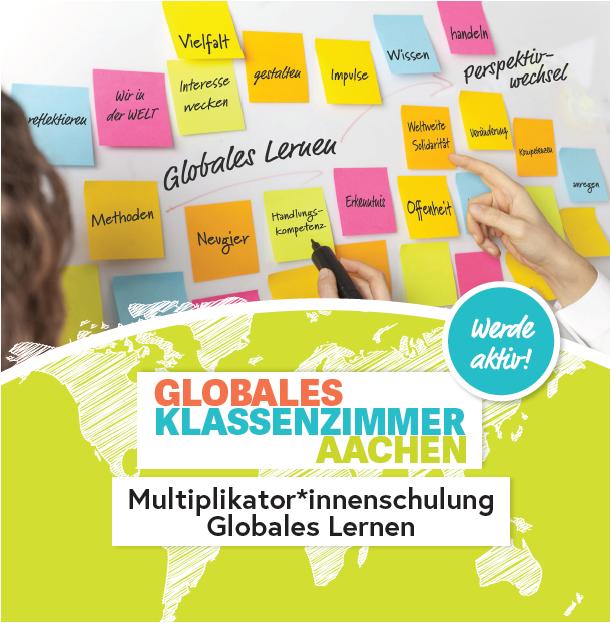 Flyer Multiplikator*innenschulung 2020, Quelle: globalesklassenzimmer-aachen.de