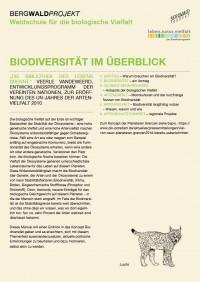 """Titelseite Unterrichtsmanual """"Biodiversität im Überblick"""". Quelle: bergwaldprojekt.de"""