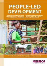 """Titelseite Material People-Led Development - Entwicklung, die vom Menschen ausgeht"""". Quelle: Misereor"""
