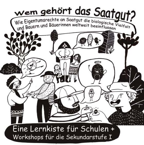 "Titelseite Material ""Wem gehört das Saatgut?"". Quelle: FDCL"