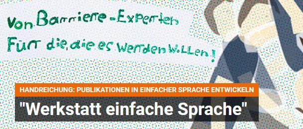 """""""Werkstatt einfache Sprache"""" der BpB. Quelle: bpb.de"""