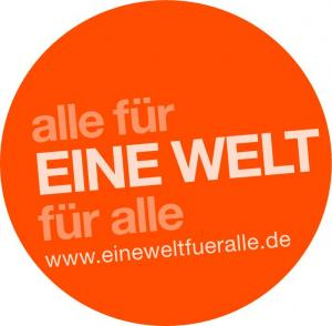 Logo alle für EINE WELT für alle. Quelle: goodevents.eu