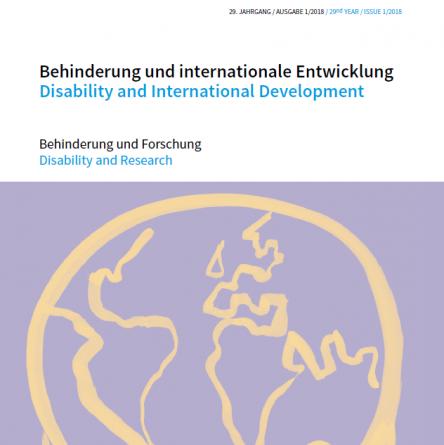 """Cover Zeitschrift """"Behinderung und internationale Entwicklung"""". Quelle: bezev.de"""