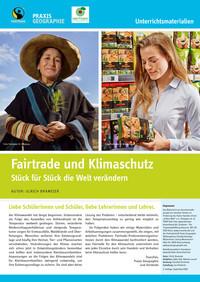 """Titelseite Material """"Fairtrade und Klima"""". Quelle: fairtrade-deutschland.de"""