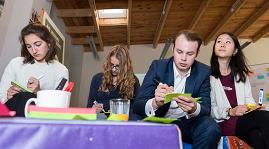 """Format """"UN im Klassenzimmer"""". Quelle: dgvn.de, Foto: F. Peters"""
