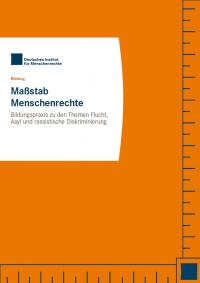 Cover Maßstab Menschenrechte. Quelle: institut-fuer-menschenrechte.de