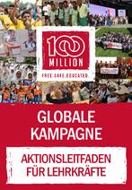 """Titelseite Aktionsleitfaden für Lehrkräfte zur Aktion """"100 Millionen"""". Quelle: brot-fuer-die-welt.de"""