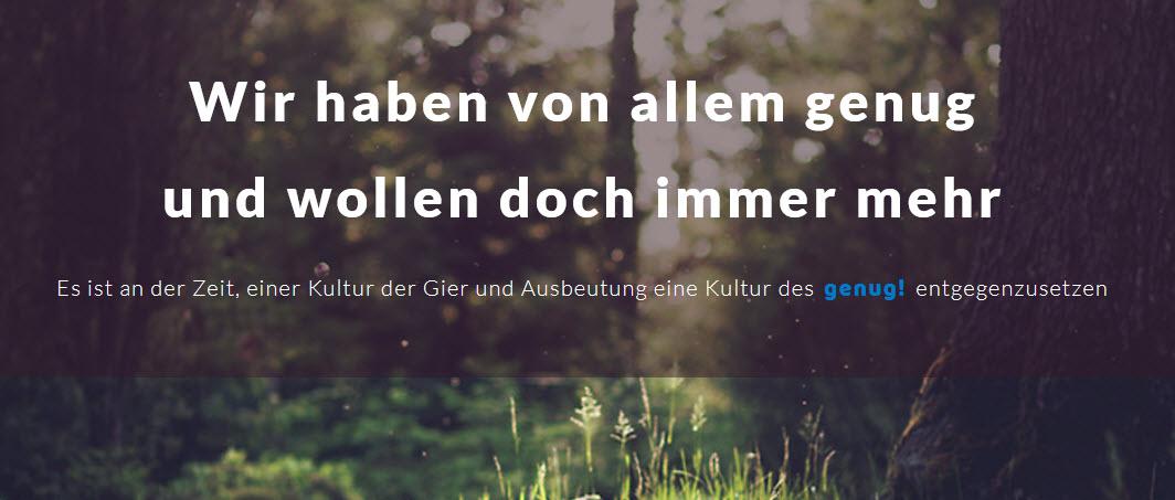 Screenshot Startseite genug.de