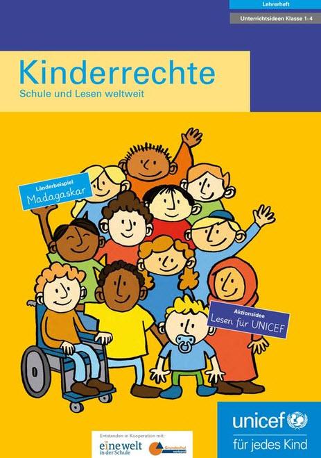 """Cover Lehrerheft """"Kinderrechte – Schule und Lesen weltweit"""". Quelle: unicef.de"""