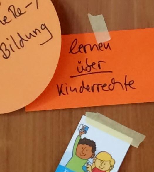 Screenshot Startseite kinderrechteschulen.de
