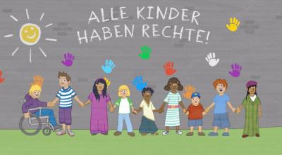 """Bild zum Video """"Das sind Kinderrechte"""". Quelle:  Kindermissionswerk ,Die Sternsinger'"""