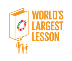 "Logo ""The World's Largest Lesson 2019"". Quelle: http://worldslargestlesson.globalgoals.org"