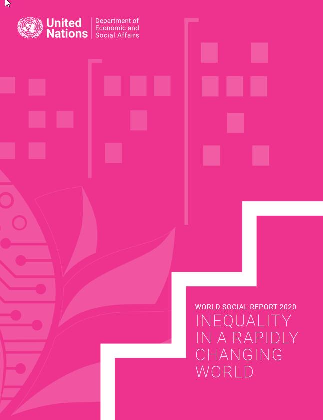 Titelseite WORLD SOCIAL REPORT 2020. Quelle: un.org