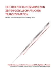 """Titelseite Publikation """"Der Orientierungsrahmen in Zeiten gesellschaftlicher Transformation. Lernen zwischen Populismus und Migration"""". Quelle: uni-kassel.de"""