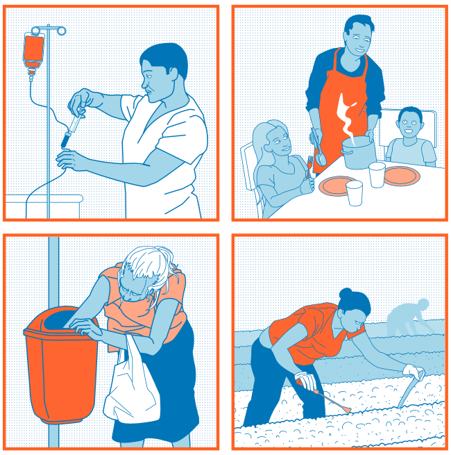 """Bild aus dem Material  """"Moderne Sklaverei? Über globale Arbeitsverhältnisse"""". Quelle: ATTAC"""